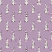 Gray rabbit — Stock Vector