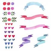 Set ribbon — Stock Vector