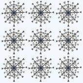 Snowflake Heart — Stock Vector
