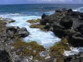 Rocky coast of Easter Island — Stock Photo