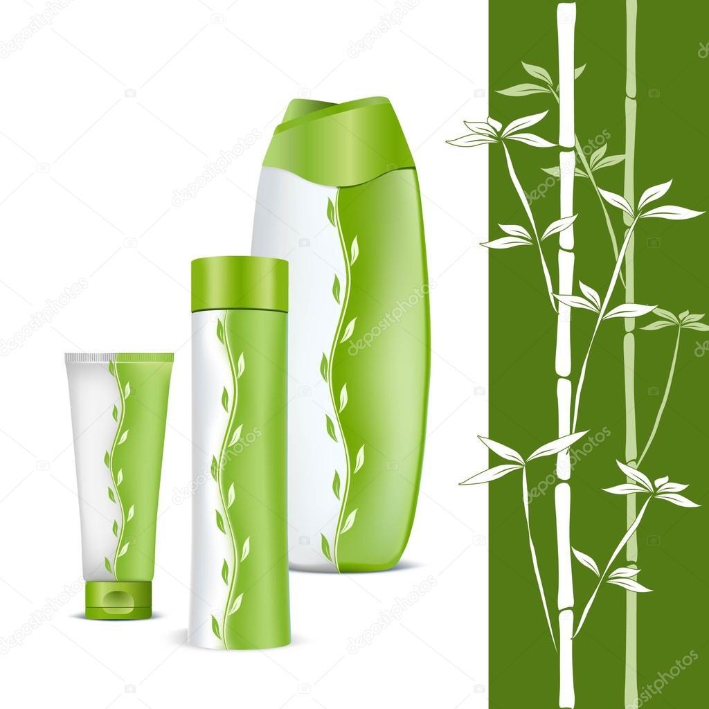 eco produits cosm tiques naturels la valeur pour les soins du corps un pa vert et blanc. Black Bedroom Furniture Sets. Home Design Ideas
