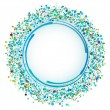 Blue varicolored circle. Lots of colorful dots on a light backgr — Stock Vector #61806573