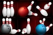 Balls breaks white skittles — Stock Vector