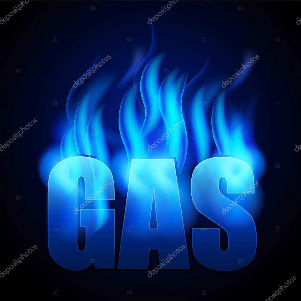 Natural Gas Prices >> Blue natural gas and GAS word — Stock Vector © designtano #75724589