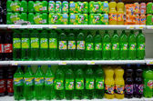 Soft drinks for sale — Stock Photo