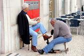 Schuh-polierer — Stockfoto