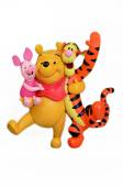 Disney's Winnie the Pooh & friends. — Stock Photo