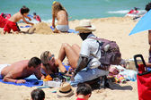 Beach vendor — Stock Photo