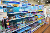 Fish products and aquariums — Stockfoto