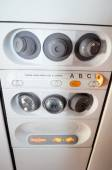 Airplane air and light controls — Stock Photo