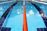 Swimming pool lane Ropes — Stock Photo