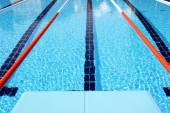 Diving board and Olympic pool — Stock Photo