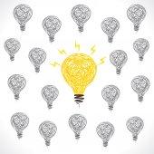 Creative new idea bulb background vector — Stock Vector