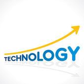 Creative technology word graph design vector — Stock Vector