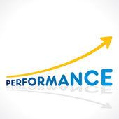 Creative perfromance word growth graph vector — Stock Vector