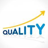 Vettore di qualità creativa parola crescita grafico — Vettoriale Stock
