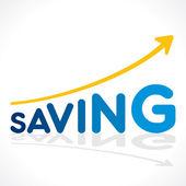 Creative saving word growth graph vector — Stock Vector