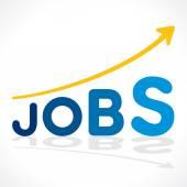 Creative jobs word growth graph vector — Stockvector