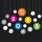 приветствие дизайн креативные счастливый новый год к 2015 году — Cтоковый вектор