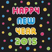 Creative new year 2015 heart shape — Stock Vector