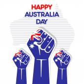 Happy Australia day greeting design — Stock Vector