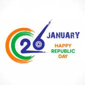 Happy republic day greeting — Stock Vector