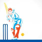 Cricket player ready to hit — Stock vektor