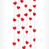 Hearts on strings pattern — ストックベクタ