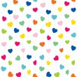 Hearts on strings pattern — Stock Vector #62691307