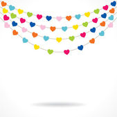 Colorful heart garlands — Stock Vector