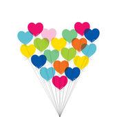 Balloons forming a heart — Stock Vector
