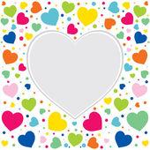Colorful hearts border — Stock Vector