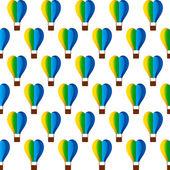 Heart shape hot air balloon design — Stock Vector