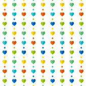 Colorful heart shape pattern design — Stock Vector