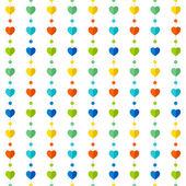 多彩的心形状图案设计 — 图库矢量图片
