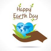 Earth day greeting card — Stock Vector