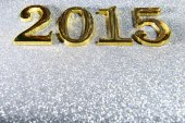 New year composition of golden numbers 2015 year — Zdjęcie stockowe