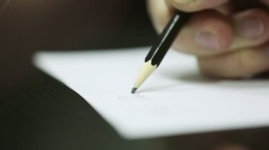 Hand Writing on a Piece of Paper. DOF. HD 1080. — Stock Video