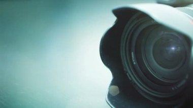 Close-up shot of professional camera. HD 1080. — Stock Video