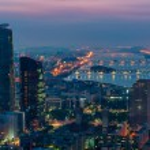Seoul Skyline at Night — Stock Photo #53111795