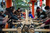 Ablution at Fushimi Inari — Stock Photo