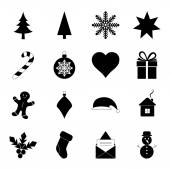 Christmas icons, vector illustration — Stock Vector