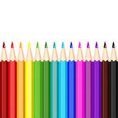 Colored pencils, vector illustration — Stock Vector