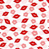 Seamless lips background, vector illustration — Stok Vektör