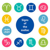 Signs of the zodiac, vector illustration — Wektor stockowy