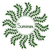 Summer decorative frame, vector illustration — Stock Vector