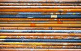 Zrezivělé kovové trubky — Stock fotografie
