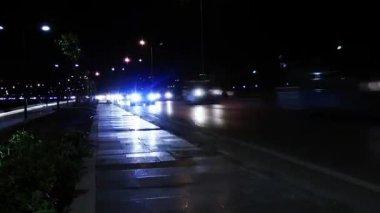 Gece trafik — Stok video