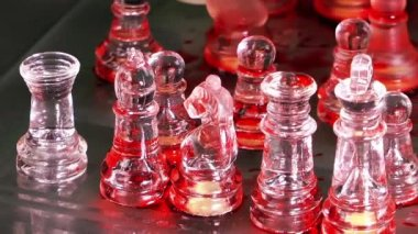 Bloody Chess from Glass — Stock video