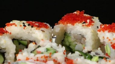 Traditional Japan Food Sushi — Stock Video